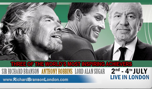Richard Branson London Seminar Tickets